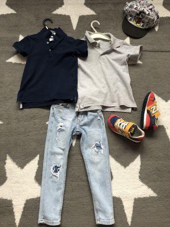 H&m 2 koszulki polo 98cm legi