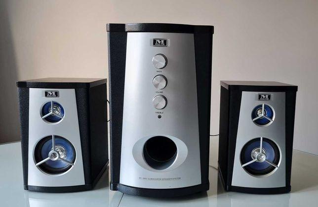 głośniki komputerowe Mode Com zestaw MC 9860 black czarne srebrne