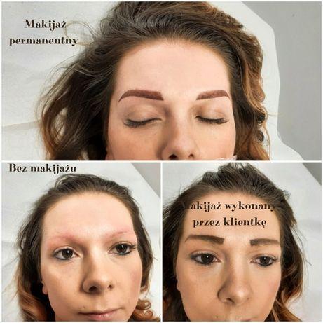 Makijaż permanentny brwi-usta od 300 zł