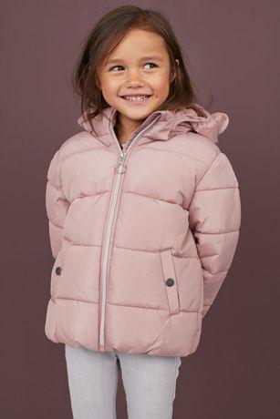 куртка H&m демисезонная на девочку Ушки