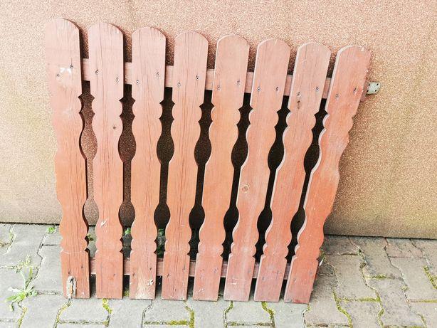 Bramka, furtka zabezpieczająca schody drzwi zewnętrzna drewniana 90x90