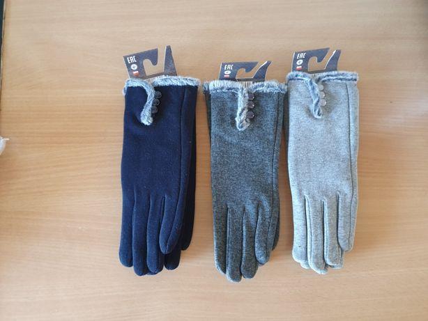 Rękawiczki z guziczkami ( jasne szare, ciemne szare, czarne )