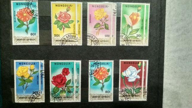Коллекция марок Монголия 1988 год. Michel № 1948-1954. Цветы.