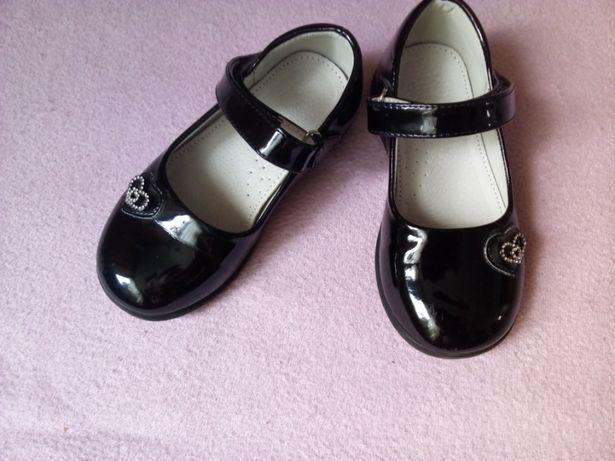 Eleganckie buty lakierki baleriny szkoła apel rozm.27 wkładka 15 cm