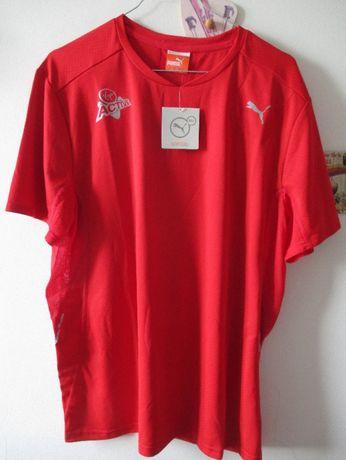 Camisola vermelha de desporto Puma NOVA com etiqueta. LARGE