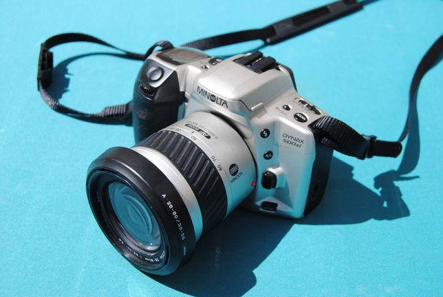 Minolta Dynax 500si + AF Zoom 28-80mm 1:3.5 (22)-5.6 Ø 62 mm