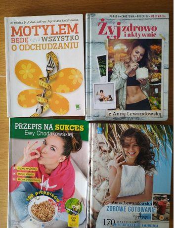 4 Książki nt. diety Ewa Chodakowska, Anna Lewandowska, Motylem Będę