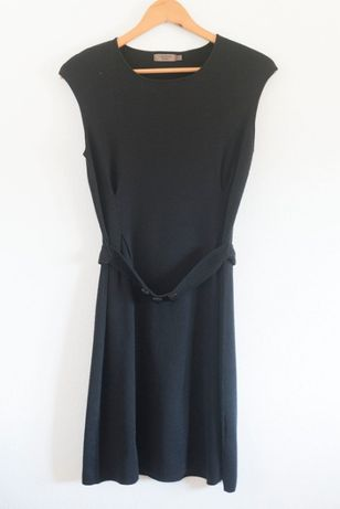 Vestido preto malha (CORTEFIEL, S)