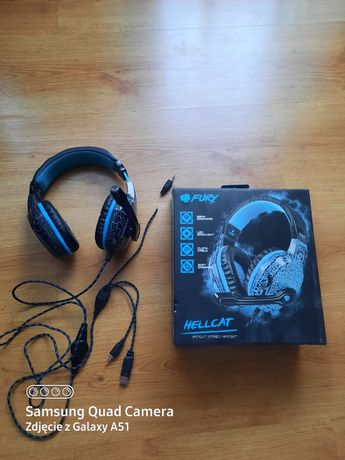 Słuchawki z mikrofonem gamingowe LED Fury Hellcat