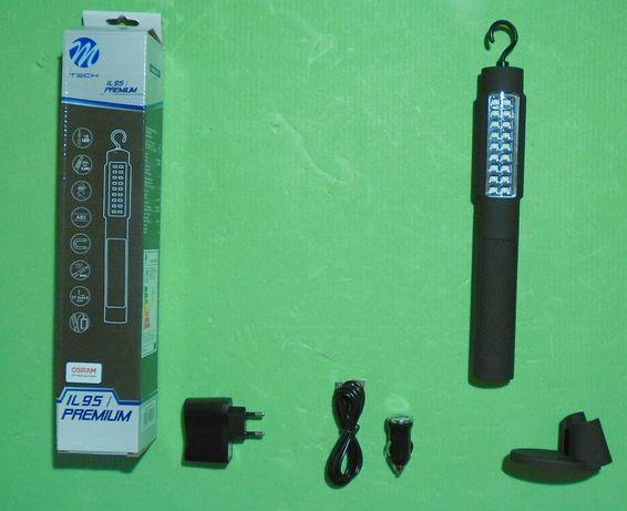 Lampa latarka warsztatowa garażowa turystyczna LED power bank prezent