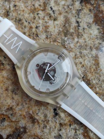 Zegarek Swatch white przezroczysty