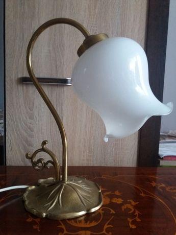 Lampka mosiężna z kloszem