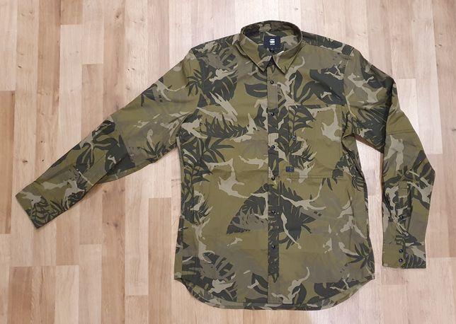 Nowa męska koszula G-STAR Atton ST Poplin Army Green rozm. L XL