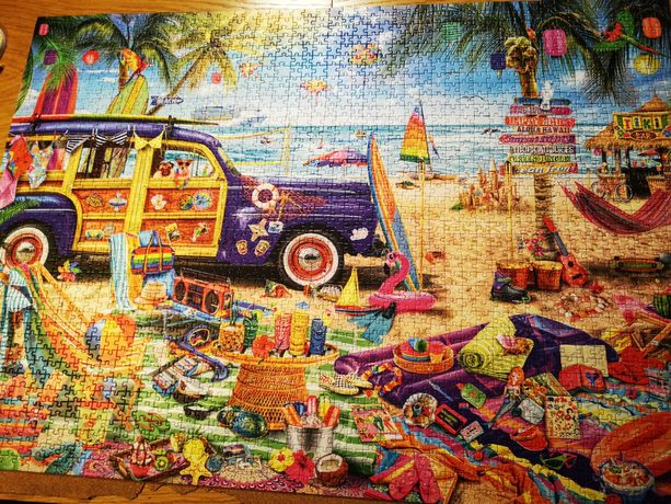 Puzzle tropikalne wakacje trefl 2000