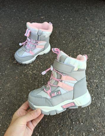 Зимние термо ботинки томм девочка и мальчик