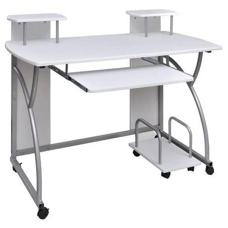 vidaXL Mesa de escritório para computador com rodas 20056