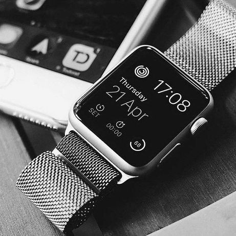 PRATA 40 38mm pulseira bracelete apple iman iwatch relógio SE 6 5 4 3