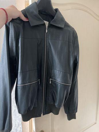 BGN куртка кожаная бомбер chanel zara