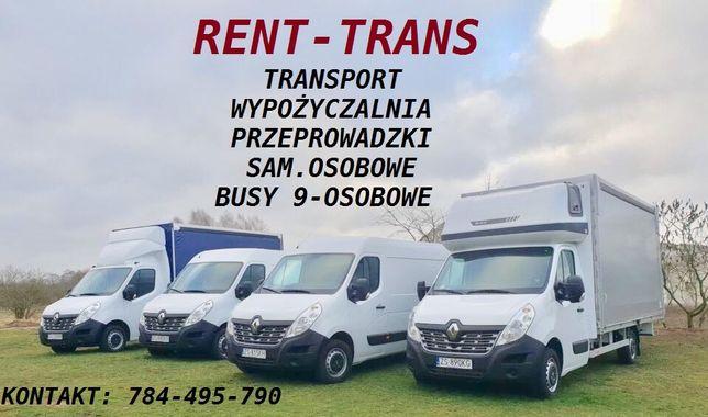 Przeprowadzki/transport/wynajem busa/wypożyczalnia/busy/9-osobowe