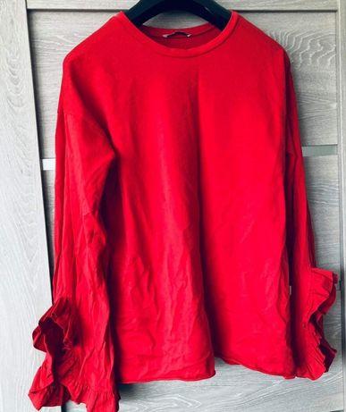 Bluzka czerwona iidealna na walentynki. Unikatowa