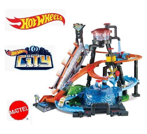 Hot Wheels® City Ultimate Gator Car Wash™ Play Set FTB67 Хот Вілс Вилс
