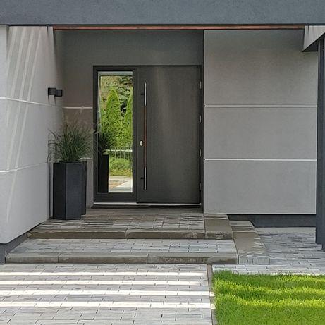 Drzwi zewnętrzne drewniane dębowe na wymiar