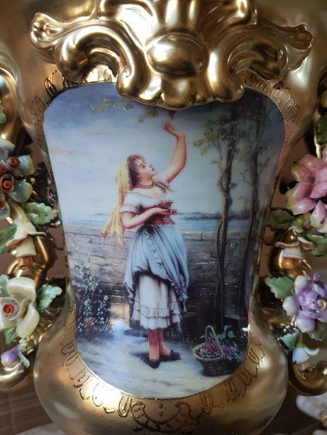 Francuska porcelana wazon idealny stan