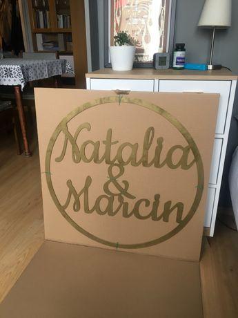 Koło z imionami Natalia i Marcin 70 cm