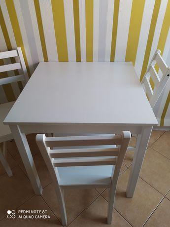 Stół kuchenny+3 krzesła IKEA