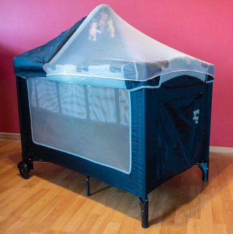 Łóżko łóżeczko turystyczne składane dwupoziomowe BBY 100 x 70 cm
