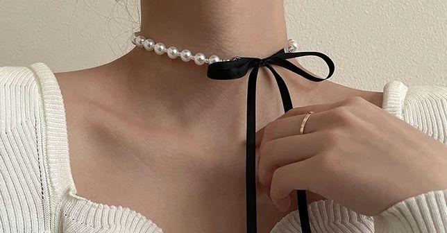 Колье чокер из жемчуга, жемчужное ожерелье