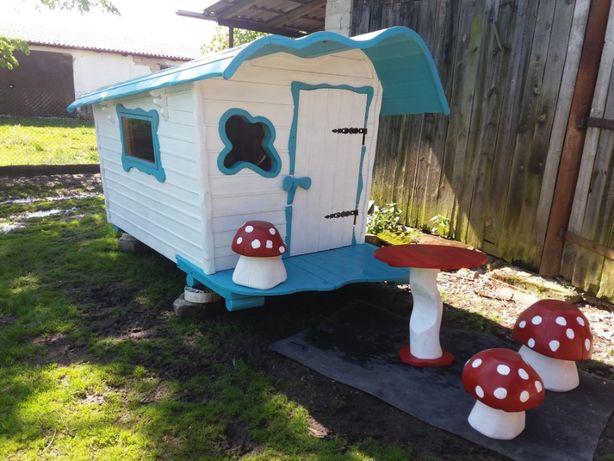 domek drewniany, bajkowy dla dzieci i mebelki,altanka,drewutnia
