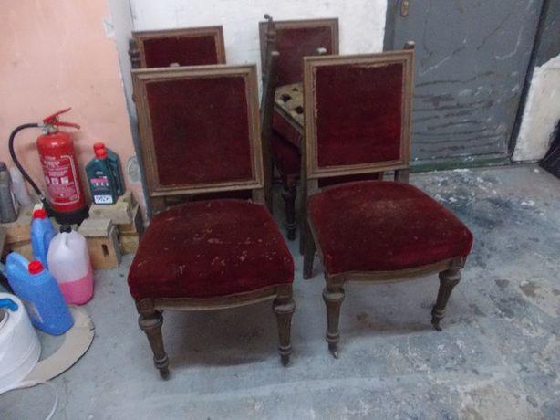 Przedwojenne fotele do renowacji 6 szt. komplet