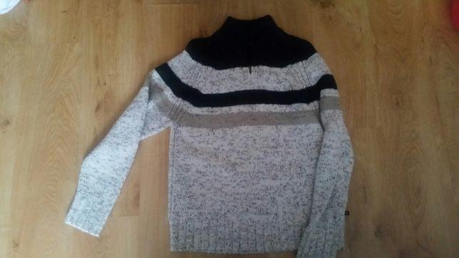 Sweter męski pod szyję wełna Marks Spencer rozmiar L