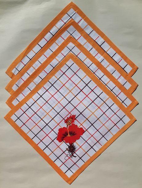 Набор из 4-х хлопчатобумажных салфеток 35 х 35 см. СССР
