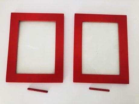 Ramki na zdjęcia ramka na zdjęcie Ikea 13x18 czerwone zestaw 2szt.