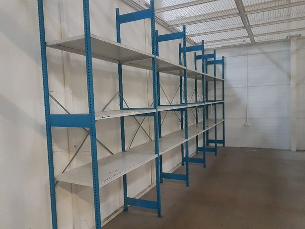 Regały magazynowe metalowe modułowe sklepowe garaż warsztat