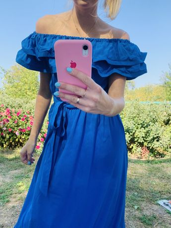 Платье синее 42-44 р