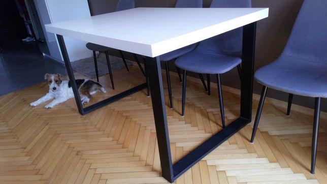 Stół LOFT 90x130; rozsuwany do 90x180; 90x230 biały OKAZJA