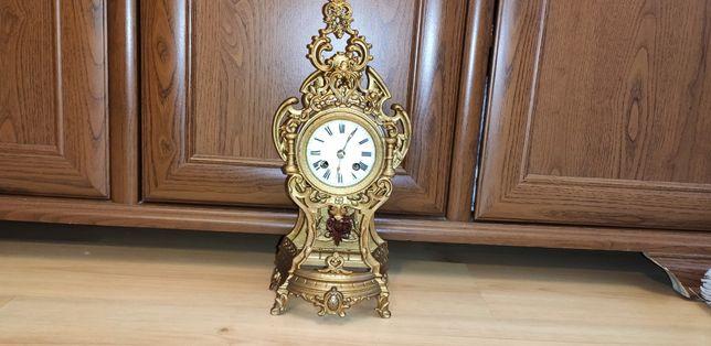 Niespotykany,piękny,ażurowy, zegar kominkowy ,XIXw Francja