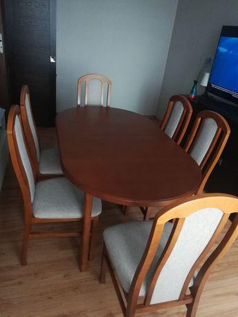 Stół z krzesłami, zestaw, do jadalni