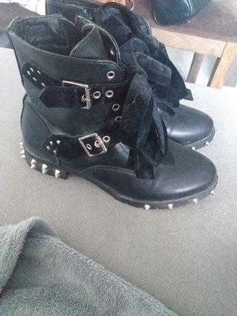 Buty botki czarne