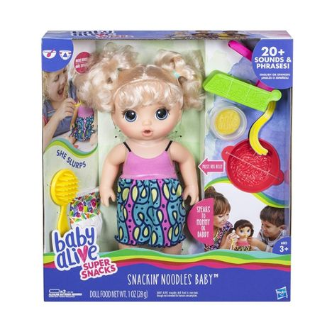 Интерактивная кукла Малышка Беби Элайв Ляля и лапша Baby Alive