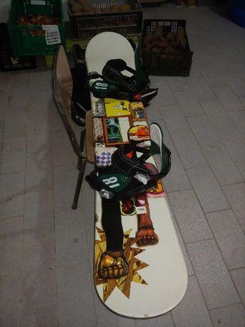 Prancha Snowboard 163 + Fixadores