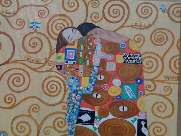 """""""Spełnienie/ Drzewo życia"""" - G. Klimt, 80X60 cm"""