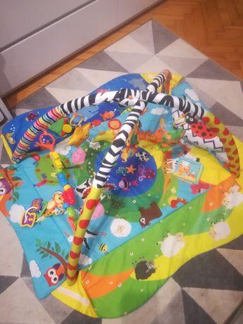 Mata edukacyjna dla niemowląt +zestaw zabawek