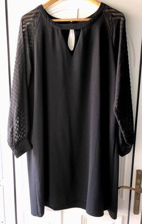 Vestidos preto manga curta e comprida