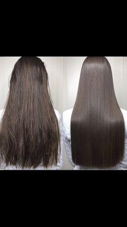 Кератиновое выпрямление волос! Стрижки мужские и женские!