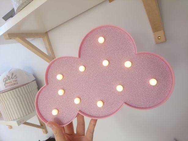 Różowa chmurka led - lampka dla dziecka