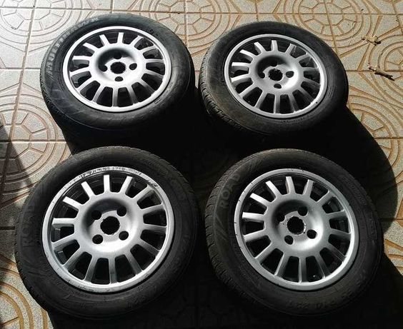 "Jantes Cromodora Sparco Rallye - 14"" - 4x108 - Pneus incluídos"